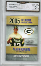 2005 ROOKIE PHENOMS AARON RODGERS GOLD PLATINUM FOOTBALL CARD GREEN BAY PACKERS