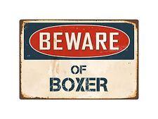 "Beware Of Boxer 8"" x 12"" Vintage Aluminum Retro Metal Sign VS073"
