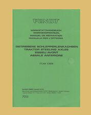Fendt Farmer Favorit Werkstatthandbuch Allradachse  Schlepper