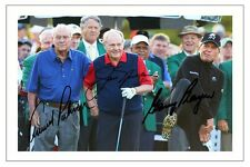 ARNOLD PALMER GARY PLAYER & JACK NICKLAUS GOLF SIGNED AUTOGRAPH PHOTO PRINT