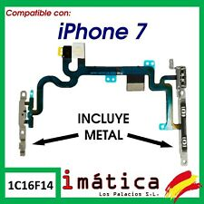 CABLE FLEX BOTON DE ENCENDIDO METAL IPHONE 7 INTERRUPTOR FLASH MICROFONO POWER