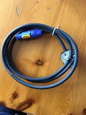 Neutrik Powercon 20a Input Lead with 13a Black Plug Top 2 Meter Long H07 Cable