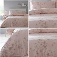 GLITTER STARS Shimmer Sparkle Duvet Cover / Quilt Cover Set Bedding Rose Gold
