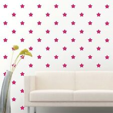 """180 of 2"""" Hot Pink Star Diy Decor Removable Peel Stick Wall Vinyl Decal Sticker"""