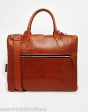 NWT Royal RepubliQ Twin Tote Bag Holdall in Cognac Leather RRP $360