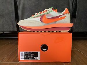 Nike LDWaffle Sacai x Clot Orange Blaze Size 9.5 DH1347100