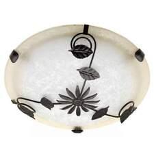 Deckenleuchte Provence Glas Landhausstil Blätterornamente Deckenlampe Floral