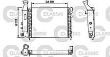 Engine Cooling Radiator VALEO Fits CITROEN Ax Hatchback 1986-1997