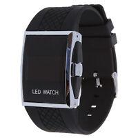 Orologio LED rosso digitale sport per uomini e donne nero  A6I4