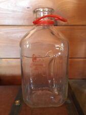 Vintage FERNBROOK FARMS Half gallon GLASS MILK BOTTLE - Very Rare!