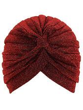 METALLIC TURBAN HEAD WRAP CAP