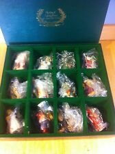 1988 Franklin Mint Faces of Christmas Around The World Porcelain Ornaments *