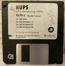 Megatec RUPS-A UPS Utility Bundle Version Disk 3.21 MS DOS Windows 3.1 95 98 Vtg