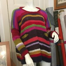 HAND KNIT STRIPED jumper.  English made in Victoria, Australia