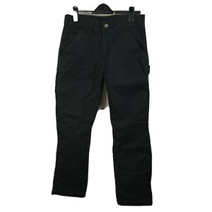 CARHARTT Relaxed Fit Cotton Peached Twill Black Carpenter Pants Size 31 x 30