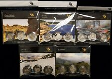 Lot of 5 2012 PDS U.S. Mint America the Beautiful Quarter Complete 3 Coin Sets