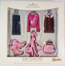 Barbie Fashion Minis Miniature Collection Hallmark Ornaments (Set of 6)