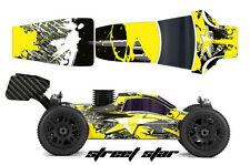 AMR RACING RC GRAPHIC SKINS DECAL KIT MUGEN PROLINE BULLDOG BODY MBX6 STREET YEL