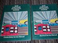 1978 PLYMOUTH FURY ROAD RUNNER SAPPORO VOLARE Service Repair Shop Manual Set OEM
