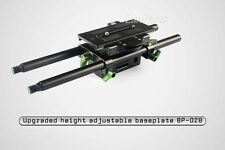 New LanParte Height Adjustable Baseplate 15mm Rod for Dslr Video Camera