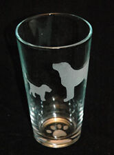 Etched Standing Labrador Retriever  with Puppy Pint Glass for Ice Tea, Milk...
