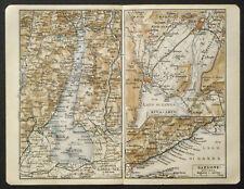 Antica Stampa Topografica,LAGO GARDA-RIVA-ARCO.1912...