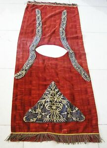 Turkish Silver Thread Embroidery On Velvet Clergical Vestment &Religious Symbols