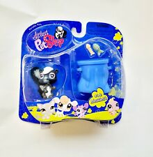 NEW Littlest Pet Shop #641 Messiest Skunk Fish Garbage Can LPS Trash Portable 4+
