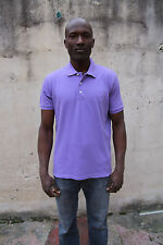 GMV Gianmarco Venturi Mens Short Sleeved Polo Top Cotton Auth Purple L Large