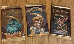 Harry Potter TCG Chamber Of Secrets Booster Pack Artset (3 Boosters)