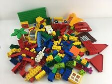 Lego Duplo 2kg Bundle Bricks Bases House Window Wheels Vehicle Parts Starter Lot