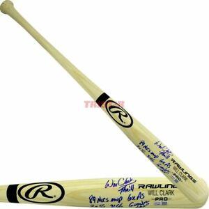 Will Clark Signed Name Model Bat Inscribed Thrill 89 NLCS MVP Giants HOF TRISTAR