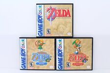 Zelda Link's Awakening and Oracles Custom Cases *NO GAMES* (Game Boy Color GBC)