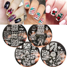 4pcs/set Nail Stamping Template Plates Kit Roses Alphabet Patterns Born Pretty