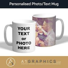 Personalised Photo Mug Cup Custom Design Image Name Logo Text Tea Coffee Gift