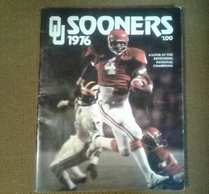 """Vtg. RARE """"OU SOONERS 1976""""  NORMAN """"A LOOK AT THE DEFENDING NATIONAL CHAMPIONS"""""""