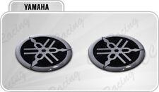 2 Adesivi Resinati Stickers 3D YAMAHA 2 cm nero