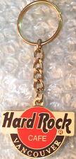"Hard Rock Cafe VANCOUVER 1990s Orange HRC Logo 1.75"" KEYCHAIN w/ Gold logo Back"