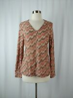 Missoni Sport 50 Large Knit Wool Blend V-neck Long Sleeve Top *Faint Flaw*