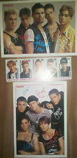 Take That 2 Autogrammkarten+5 Briefmarken Robbie Williams Gary Barlow Mark Owen