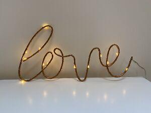 Love LED Rose Gold Sign Home Decor Light Up