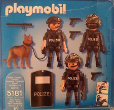 Playmobil 5181 Polizei Spezialeinheit komplett im Original Karton Kampfeinheit