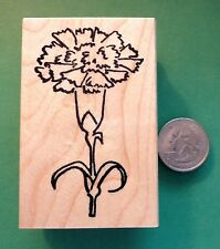 Big Carnation, Wood Mounted Rubber Stamp - Shrinky-Dink