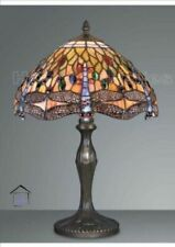 STUNNING DRAGONFLY TIFFANY HANDCRAFTED 12'' TABLE LAMP - IDEAL CHRISTMAS GIFT