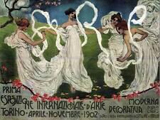 Esposizione d'arte culturale internazionale TORINO ITALIA vintage pubblicità poster 1678py