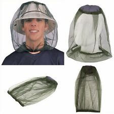 1x Anti Mosquito Insect Camo Coll Outdoor Anti-Mosquito Mask Hat & Head Net Mesh
