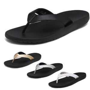 Women Arch Support Flip Flops Comfortable Summer Beach Thong Sandals Size 5-11