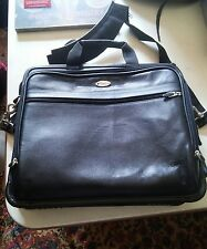 000 Black Targus TLE300 Leather Notebook Laptop Case Tote 15x13 Used