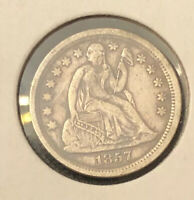1857 SEATED LIBERTY DIME / GREAT DATE!!