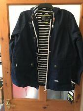 Trespass Ladies Seawater Waterproof Outdoor Jacket Coat (Navy) UK Size 14 - BNWT
